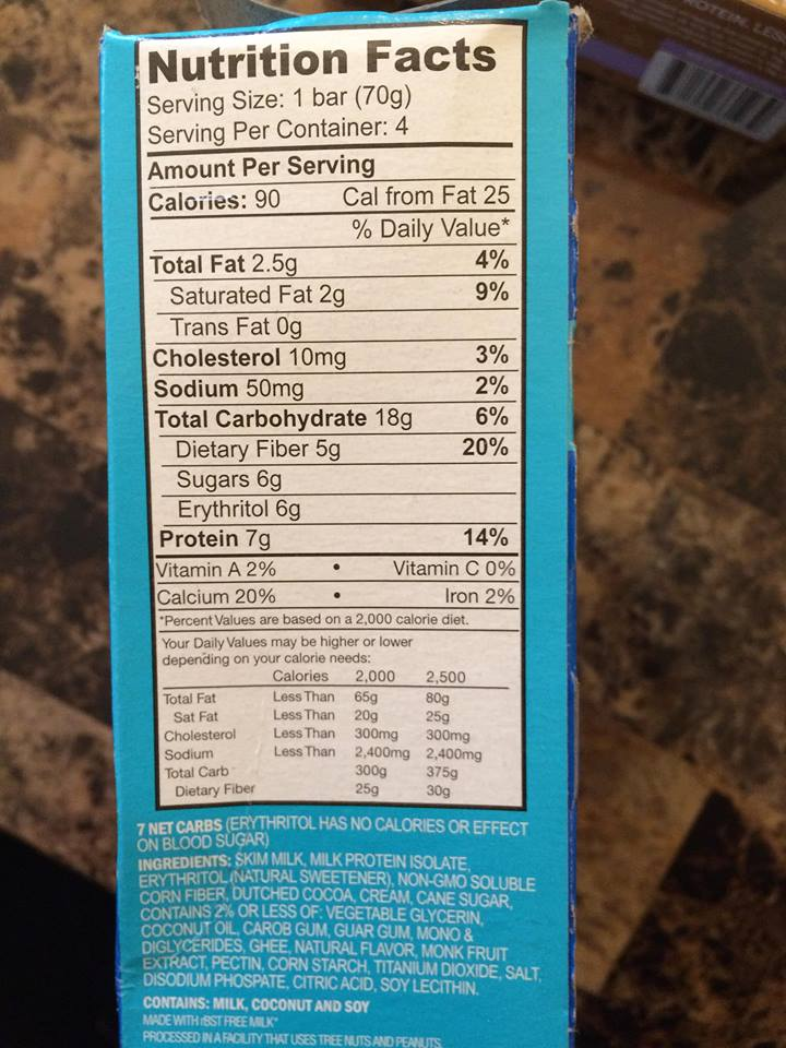 enlightened frozen hot cocoa nutritional info 90 calories per bar