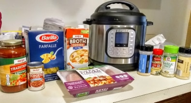 ingredients for lasagna soup in the Instant Pot